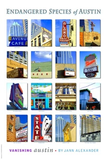 Endangered Species of Austin, poster by Jann Alexander © 2009