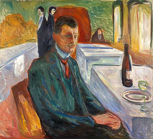 Edvard Munch: Self-Portrait with a Bottle of Wine