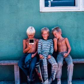 Three Boys and a Polaroid by Jann Alexander © 2013