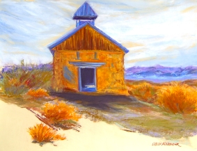 Abandoned in Terlingua, pastel on paper by Jann Alexander © 2012