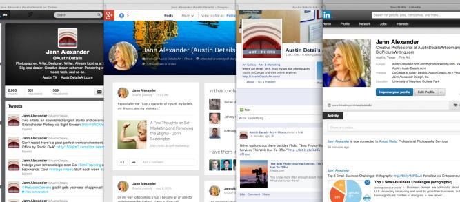 Flirting with Google+, Twitter, LinkedIn, Facebook
