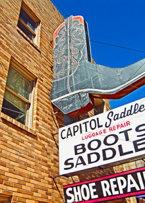 Capitol Saddlery Booted Out by Jann Alexander © 2013