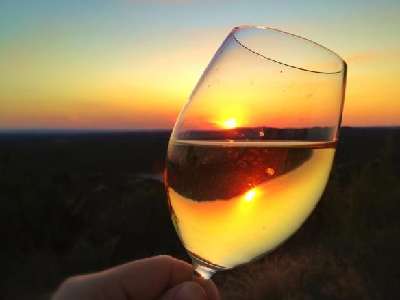 Wine at Sunset by Alex Suarez © 2013