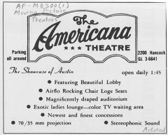 American Theatre Ad, Austin History Center