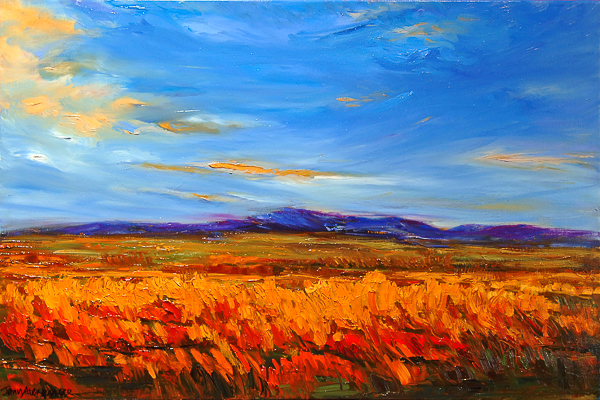 It Was Beautiful That Afternoon, oil on canvas by Jann Alexander