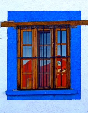 Red Church, Blue Window by Jann Alexander © 2012