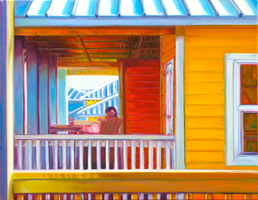 Painting-of-Woman-on-Porch-©-Jann-Alexander
