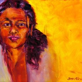 Madonna of Izamal, oil on canvas by Jann Alexander ©2014