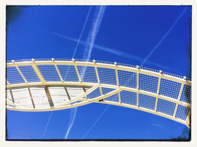 Sky Writing Photograph by Jann Alexander © 2014