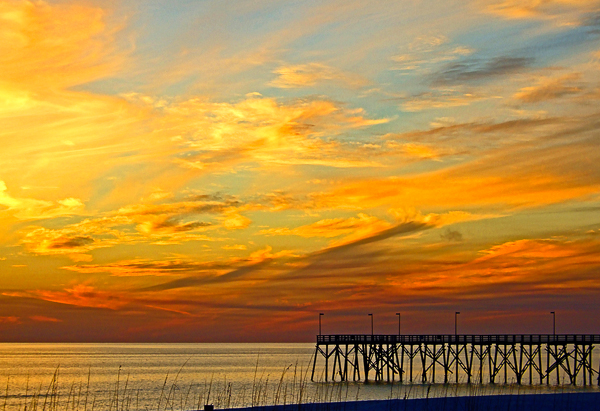 Sunset at the Pier by Jann Alexander © 2013-3936