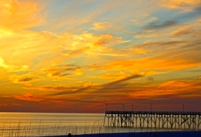 Sunset Pier by Jann Alexander © 2013