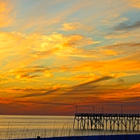 Sunset Pier by Jann Alexander © 2013