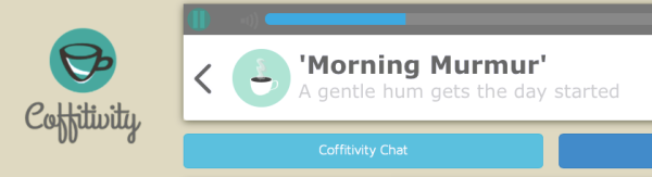An app for The Caffeinated Creative: Coffitivity