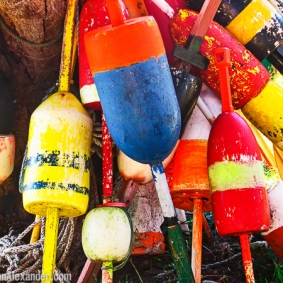 Lobster Buoys by Jann Alexander ©2014