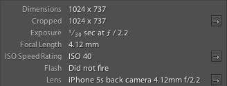iPhone 5s Image Specs