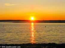 Setting Maine Sun by Jann Alexander ©2014