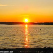 Setting Maine Sun by Jann Alexander ©2014