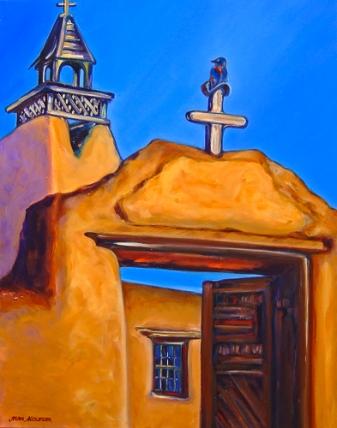 Bluebird of Las Trampas painting by Jann Alexander © 2014