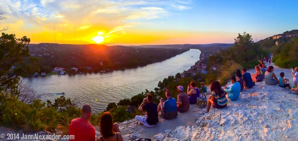 Sunset Party on Mt Bonnell by Jann Alexander © 2014