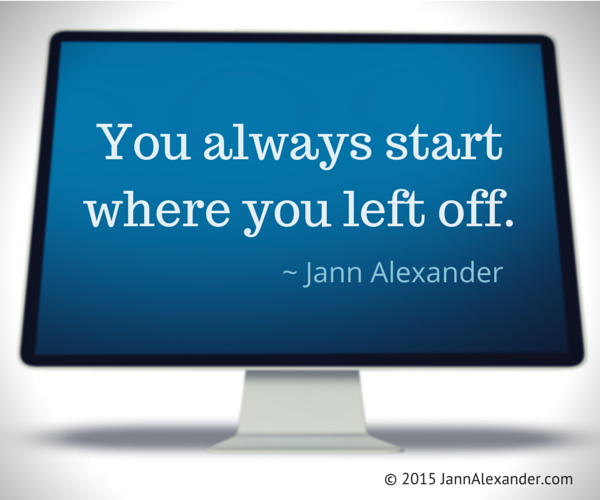 When to Start by Jann Alexander ©2015