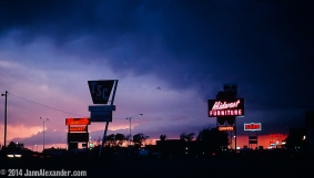 Neon Crossroads, 1980 by Jann Alexander © 2014