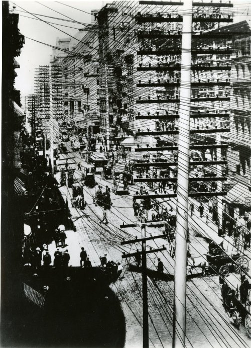 Telephone Pole Line Construction in New York, circa 1903, IEEE Global Network