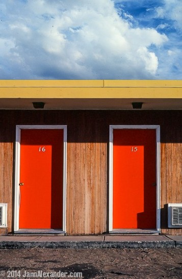 Miles of Motel Doors, 1980 by Jann Alexander © 2014