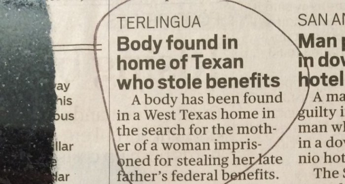 Weird Shit Happens in Terlingua