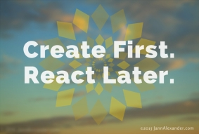 Create First Quote designed by Jann Alexander ©2015