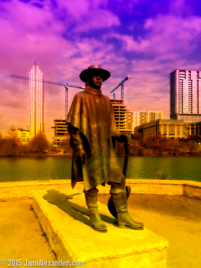 Now Appearing at Lady Bird Lake: Stevie Ray and The Cranes | iPhoneography by Jann Alexander © 2015