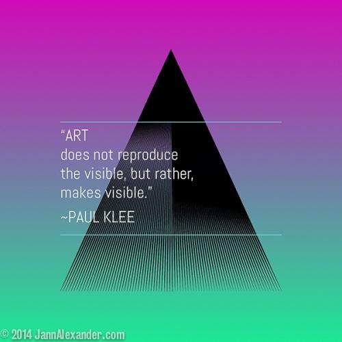 Klee Quote by Jann Alexander ©2014-4208