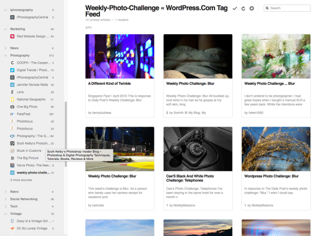 Weekly Photo Challenge Posts from WordPress.com Reader