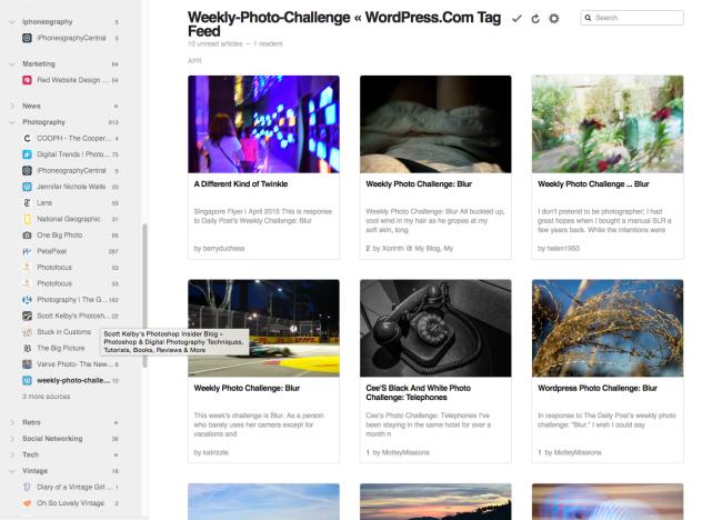 Weekly Photo Challenge Posts from WordPress.com Reader