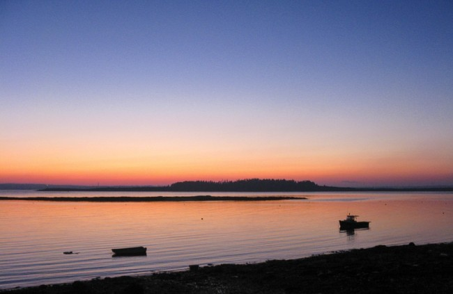Casco Bay Sunset by Jann Alexander ©2012-1852