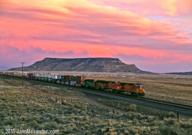 Train at Sunset by Jann Alexander ©2015