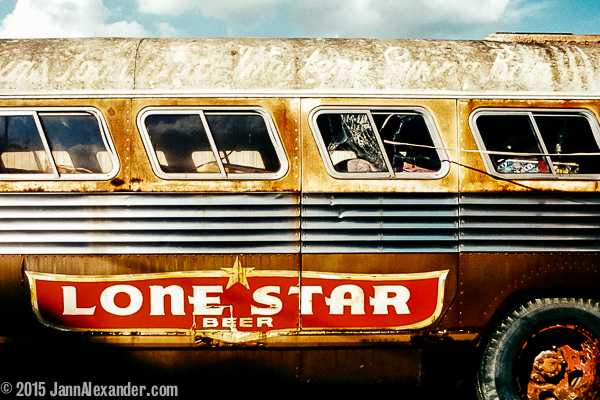 Vanishing Austin Lonely Bus by Jann Alexander ©2004