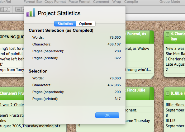 Scrivener: A built-in editor to slash and burn wordy novels