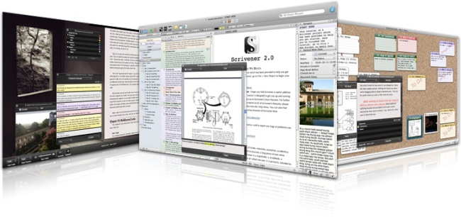 Scrivener: Just like your handy high school binder