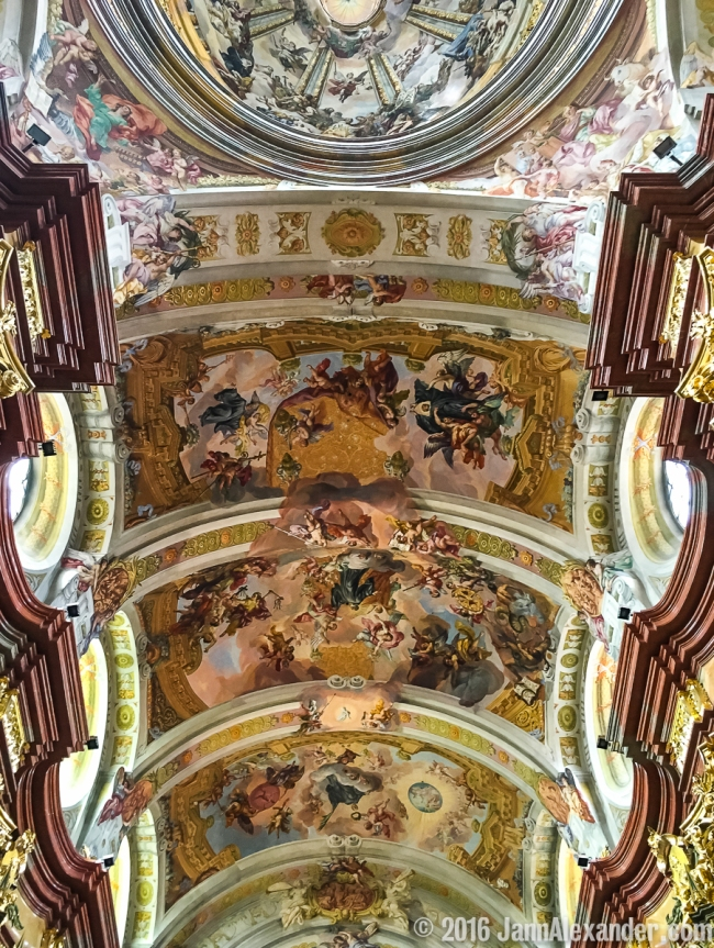 Melk Abbey Ceiling iPhoneography by Jann Alexander © 2016
