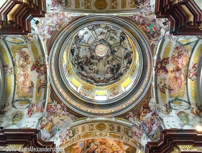 Melk Abbey Ceiling Symmetry iPhoneography by Jann Alexander © 2016