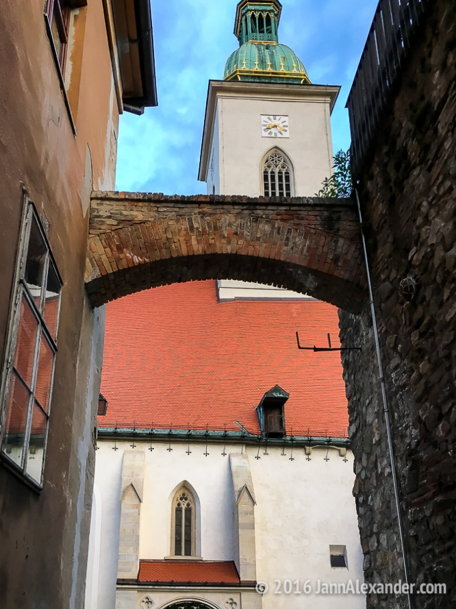Framed Out By An Arch In Bratislava   iPhoneography by Jann Alexander © 2016