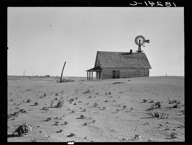 Farm north of Dalhart, Texas, 1938 by Dorothea Lange