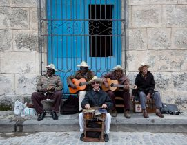 Cuban band at Plaza de la Cathedral, Havana by Carol M. Highsmith 2010 (Library of Congress)