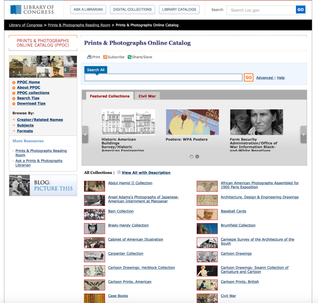 Library of Congress Prints and Photographs Online Catalog